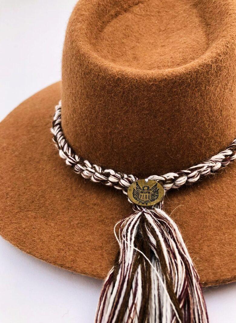 Sombrero trenzas camel 3