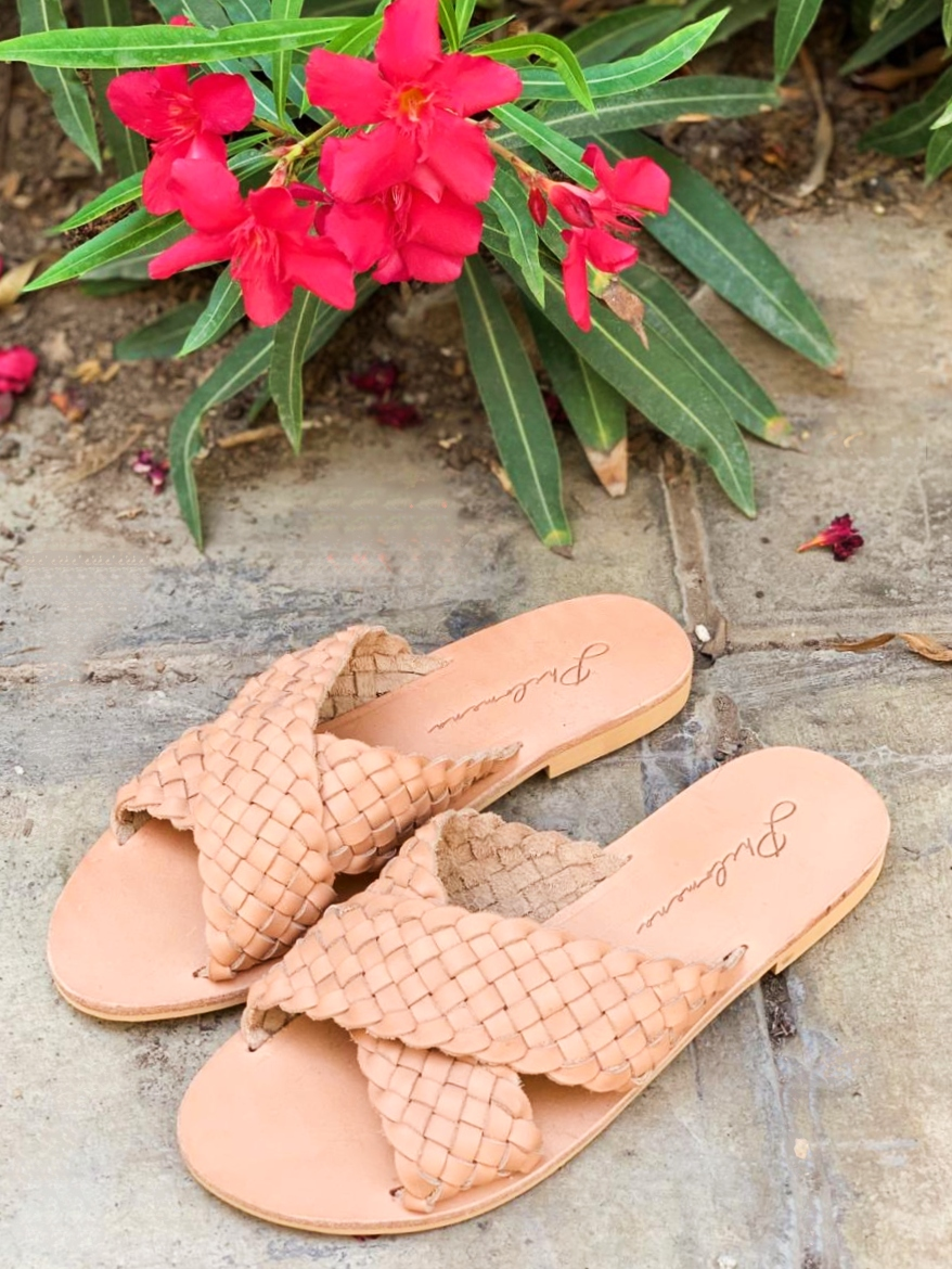 beige cover sandals