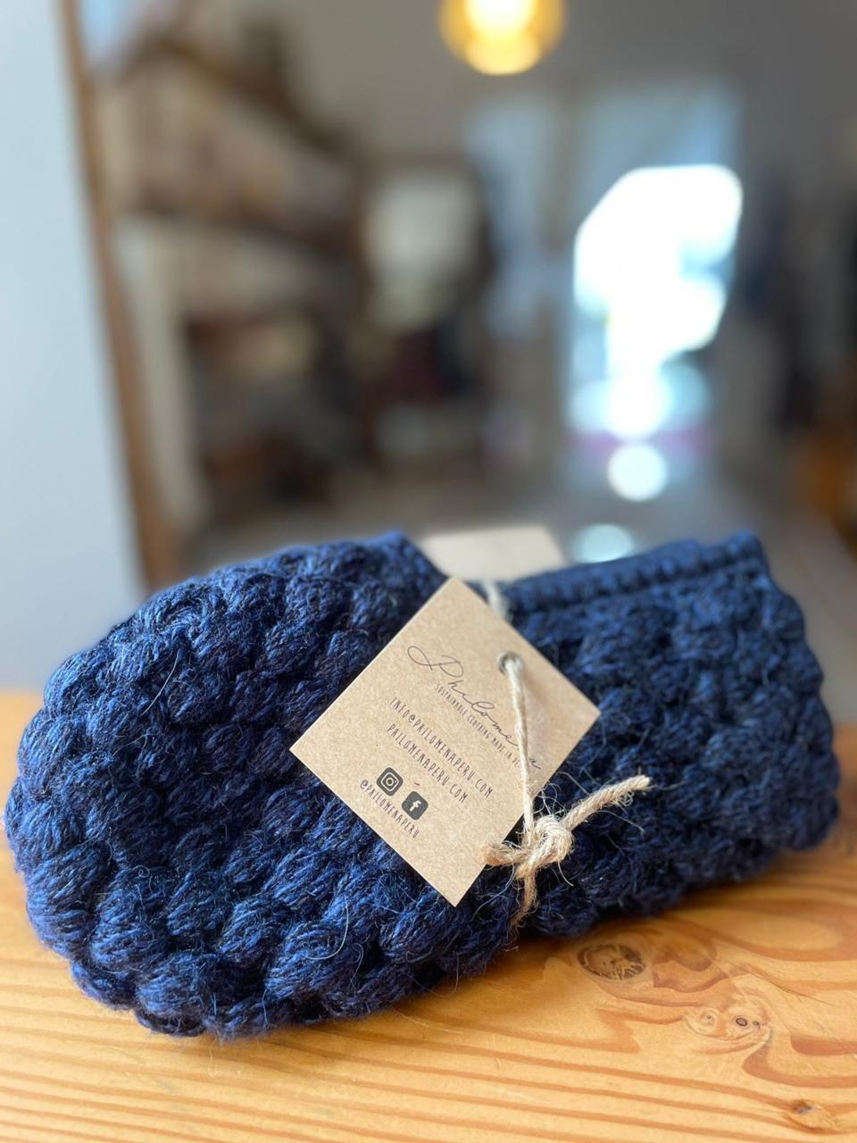 Pantuflas azul 1